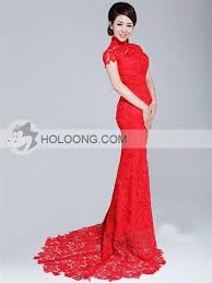 qipao wedding dress style cheongsam hollow out lace flower vintage backless qipao