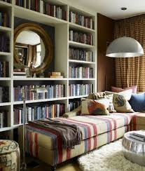 home library with chic reading corner and sweet decor reading