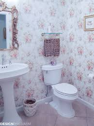 Pink Powder Room Transforming A Bland Powder Room Into A Lovely French Bathroom