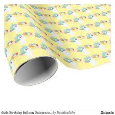 birthday girls unicorn fantasy wrapping paper zazzlers birthday