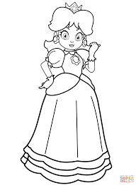 princess daisy coloring free printable coloring pages