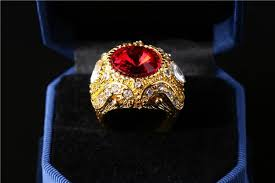 popular cheap gold rings for men buy cheap online cheap top quality luxury crown sapphire ruby emerald jewelry