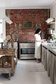 wallpaper in kitchen ideas best 25 brick wall kitchen ideas on exposed brick brick
