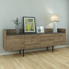 Wall Mounted Credenza Furniture Modern Sideboard In Matt White Also Buffet Storage
