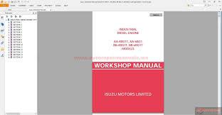 isuzu workshop manuals models aa 4bg1t aa 6bg1 bb 4bg1t bb 6bg1t
