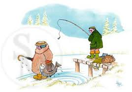 c387x poached salmon funny fishing christmas cards