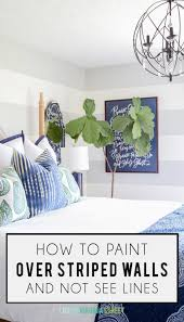 how to paint over striped walls tutorial life on virginia street