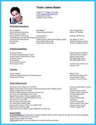 Best Resume Builder Toronto by The Best And Impressive Dance Resume Examples Collections