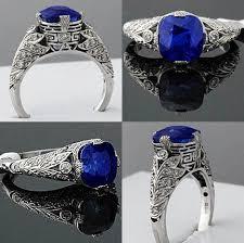 superb 4 67ct kashmir sapphire diamond u0026 platinum filigree art