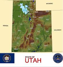 Utah Counties Map Utah Consists Of 29 Counties Such As Iron Millard Beaver