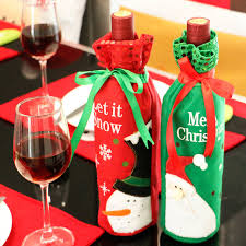 wine bottle bows christmas wine bottle bag dinner party decoration bow knot snowman