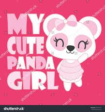 cute baby panda my cute panda stock vector 695457343 shutterstock