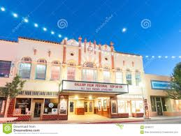 home movie theater signs movie theatre el morro in main street scene with decorative ligh