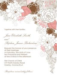 wedding invitations borders garden with floral border wedding invitation free printable