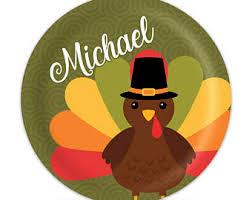 turkey dinner plate etsy