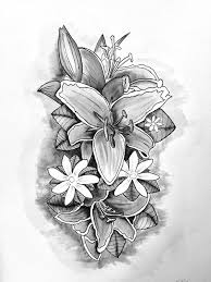 15 best flower tattoo drawing idea images on pinterest flower