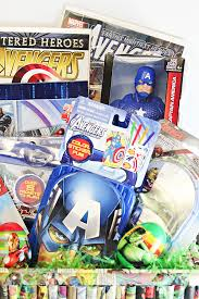 premade easter basket easter basket ideas for kids marvel comic con family