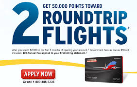 Southwest Flight 59 by Southwest Airlines Credit Card 50 000 Point Offer Running With Miles