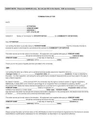 Vendor Contract Template Create A Lease Termination Letter Sample Lease Termination Letter Template