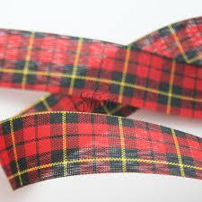 tartan ribbon tartan ribbon 25mm green multi shine trimmings fabrics