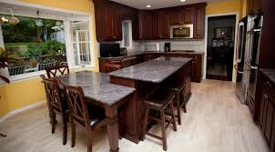 Kitchen Island With Corbels Bordeaux And Sable Glaze Kitchen Brielle New Jersey By Design Line