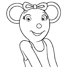 angelina ballerina coloring pages getcoloringpages com