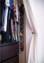 Used Closet Doors Small Closet Big Solution Curtains As Closet Door Curtain