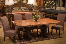 Copper Top Dining Room Tables 54 Round Copper Top Dining Glamorous Copper Kitchen Table Home