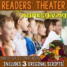 thanksgiving readers theater by deb hanson teachers pay teachers
