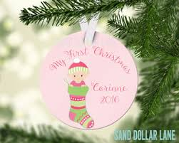 personalized christmas ornaments baby chair christmas personalized ornament