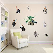 lego star wars 11 character decal boys room wall stickers