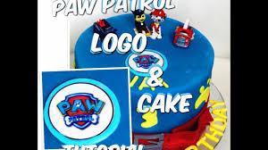 paw patrol cake paw patrol logo tutorial paw patrol torta