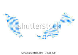 map malaysia vector abstract blue map malaysia radial dot stock vector 708162001