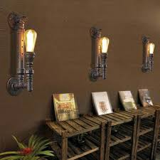 Torch Wall Sconce Torch Wall Sconce Torch Single Lighted Warehouse Pipe Wall Sconce