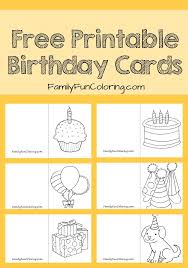 best 25 printable birthday cards ideas on free