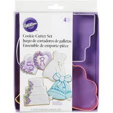 wedding cookie cutters wilton metal cookie cutter set wedding theme 4 ct 2308 1071