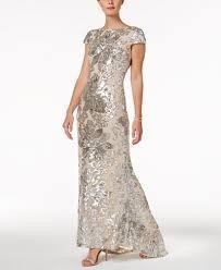 calvin klein embellished cowl back gown dresses women macy u0027s