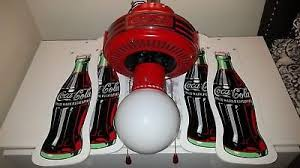 1997 coca cola ceiling fan vintage 1997 coca cola ceiling fan coke bottle blades white globe