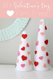 diy valentine u0027s day yarn trees the inspired hive