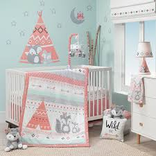 Pink And Grey Crib Bedding Sets Lambs Spirit 3 Pc Crib Bedding Set Jcpenney