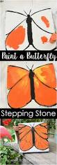 paint a monarch butterfly stepping stone cement pavers garden