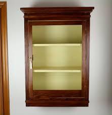 pine wall mount curio cabinet ebth