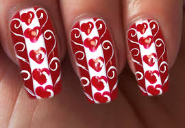 valentine u0027s day special 1 10 love hearts nail art tutorial youtube