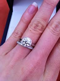 plain band engagement ring invisible band with halo engagement ring search