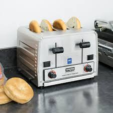 Bread Toaster Wct850rc Heavy Duty Switchable Bread And Bagel 4 Slice Commercial