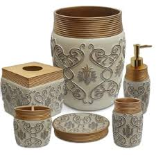 gold bathroom accessories for less overstock com