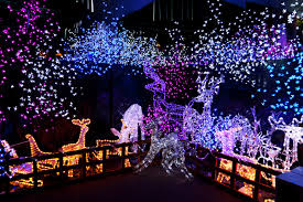 outside christmas lights home design house blue theme amazing