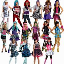 images of gurls halloween costumes girls funky punky bones