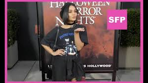 halloween horror nights hollywood twitter vanessa hudgens goes grungy goth to universal studios halloween