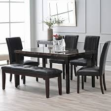 Glass Dining Room Table And Chairs Dining Room Superb Black Leather Dining Chairs Glass Dining